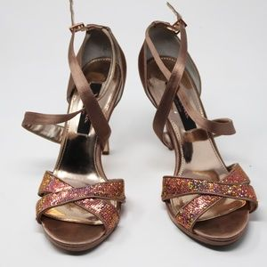 Pre-Owned Pink Rose Women's Dress Heels